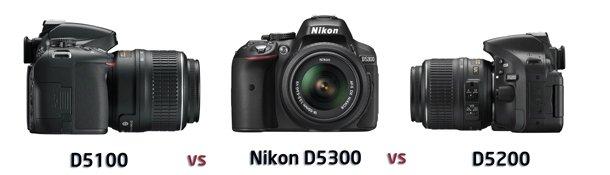 Nikon_D5300_vs_D5200_vs_D5100