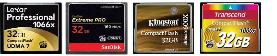 Compact-flash-confronto-top10 Le migliori schede Compact Flash del 2019 per fotocamere reflex