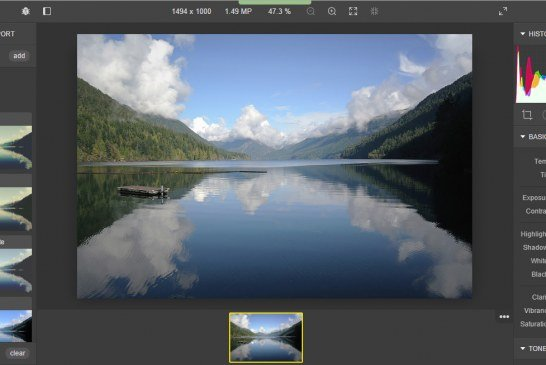 Polarr 2.0 editor gratuito online per RAW alternativo a Lightroom
