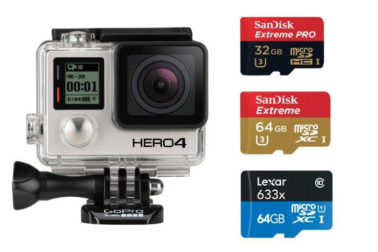 Micro SD per Gopro Hero 3+ e Hero 4 black