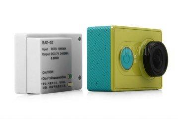 Battery Pack da 2400mAh per Xiaomi Yi + case maggiorato