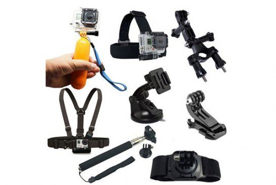 Kit di 8 accessori per action cam