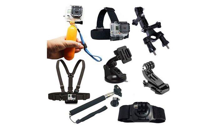 Kit di 8 accessori per action cam