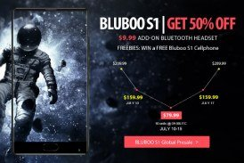 Bluboo S1 smartphone 4G 4+64GB a 70€ con coupon