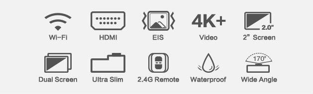 Recensione-Eken-H6s-caratteristiche Recensione Eken H6s action cam 4k economica con stabilizzatore e telecomando
