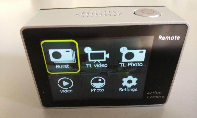 recensione-Eken-H6s-menu Recensione Eken H6s action cam 4k economica con stabilizzatore e telecomando