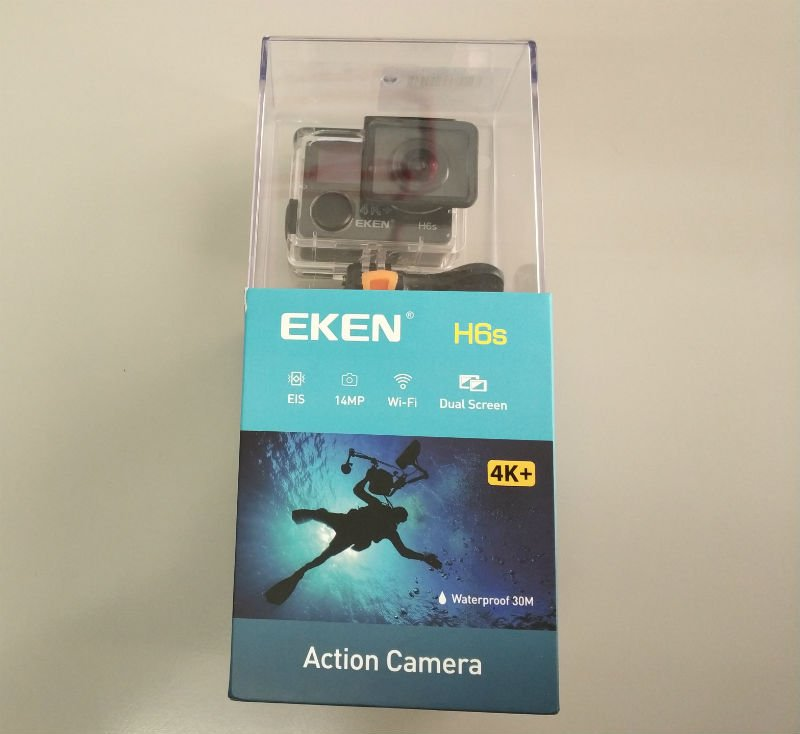 recensione-Eken-H6s-unboxing Recensione Eken H6s action cam 4k economica con stabilizzatore e telecomando